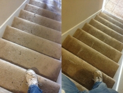Stairs Before After Carpet Cleaning San Antonio